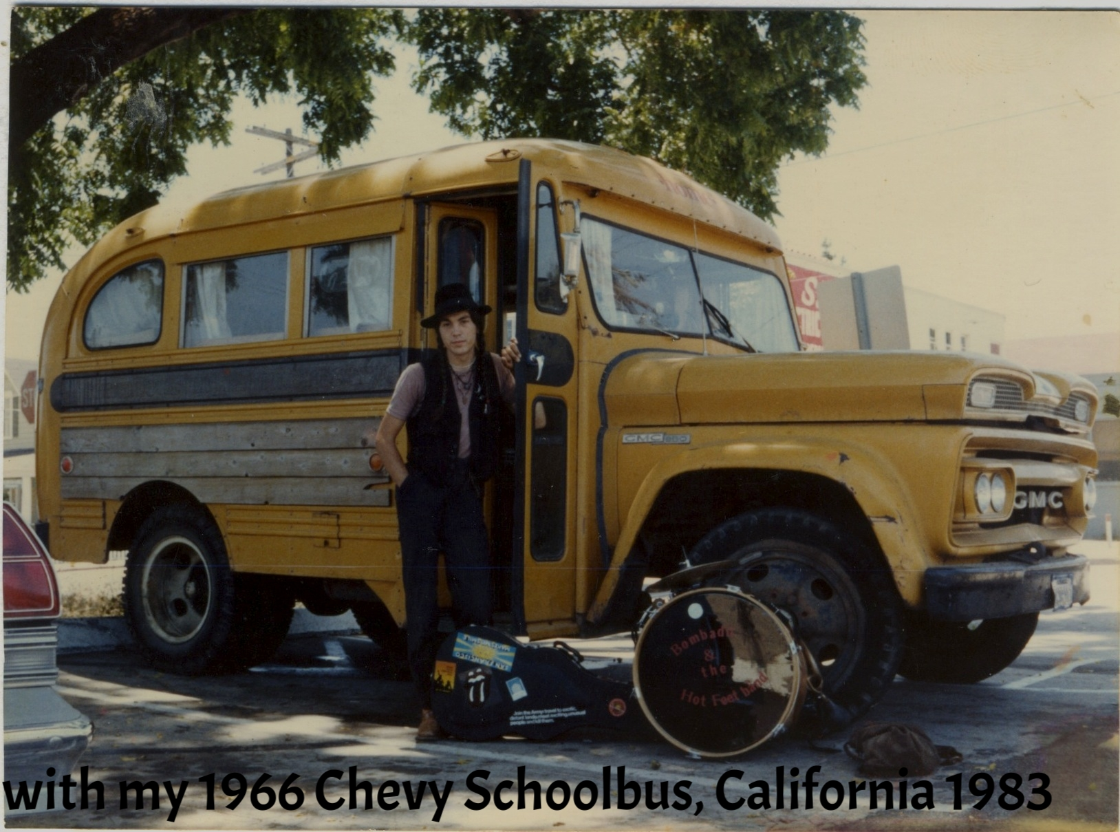 witCalifornia 1983h my 66 Chevy Bus.